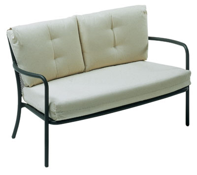 emu 3417 AIRON Podio Lounge Love Seat, Steel Mesh, Tubular Frame, Iron