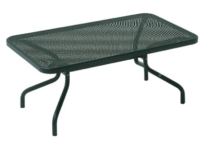 Emuamericas 3418 AIRON Podio Low Coffee Table, Mesh Top, Tubular Frame, Iron