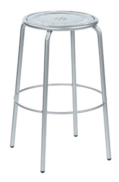 Emuamericas 387 Coupole Backless Barstool, Steel Seat & Frame, Bronze