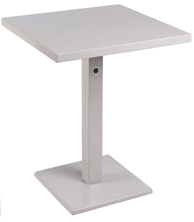 emu 473K ALU 32 in Square Lock Table, Column & Pedestal, Aluminum
