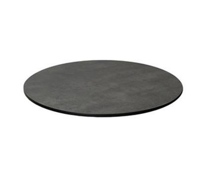"EmuAmericas GA0024 24"" ALF Round Table Top - Indoor/Outdoor, Melamine Resin, Dark Concrete"