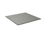 """EmuAmericas GA3232 32"""" ALF Square Table Top - Indoor/Outdoor, Melamine Resin, Dark Concrete"""