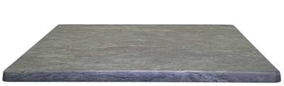 "EmuAmericas W2828 28"" Joe Square Table Top - Indoor/Outdoor, Molded Laminate, Teak"