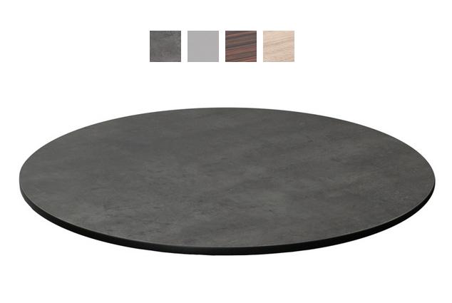"emu GA0024 24"" ALF Round Table Top - Indoor/Outdoor, Melamine Resin, Metal Brushed"