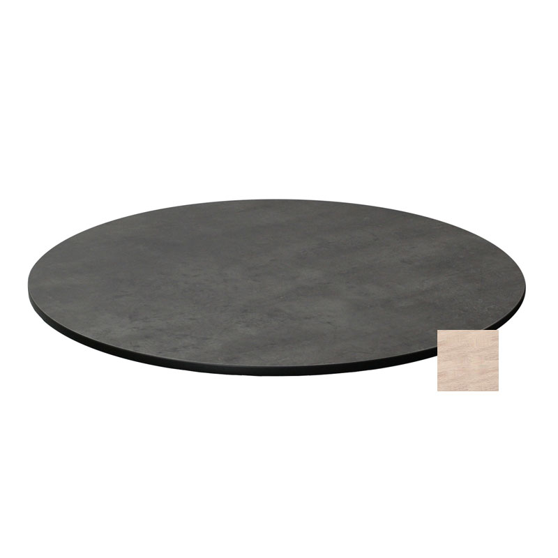 "emu GA0024 24"" ALF Round Table Top - Indoor/Outdoor, Melamine Resin, Vintage Oak"