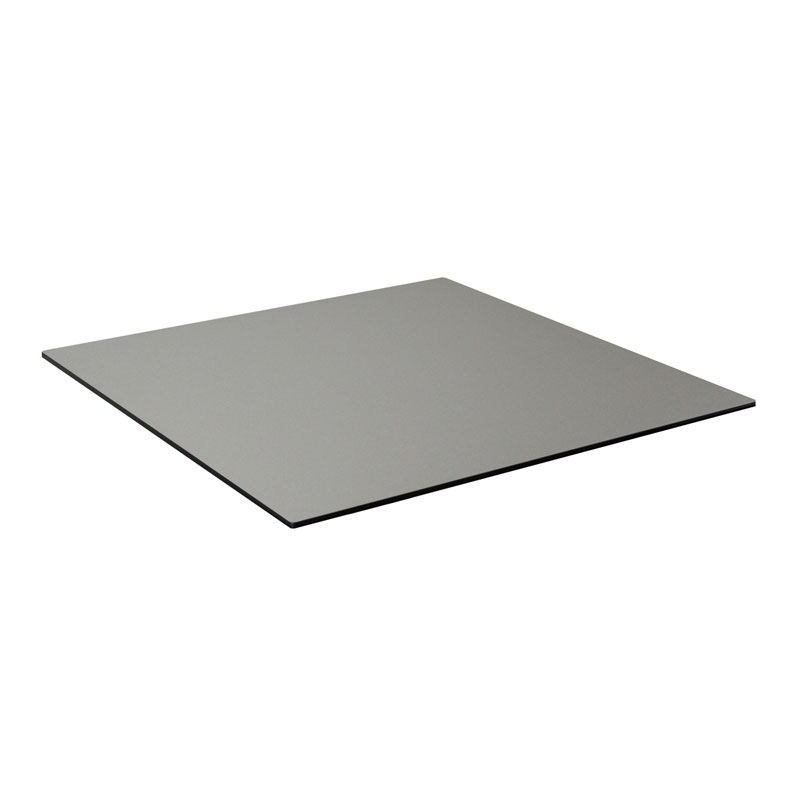 "emu GA2424 24"" ALF Square Table Top - Indoor/Outdoor, Melamine Resin, Metal Brushed"
