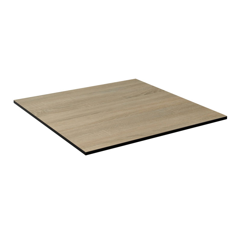 "emu GA2424 24"" ALF Square Table Top - Indoor/Outdoor, Melamine Resin, Vintage Oak"
