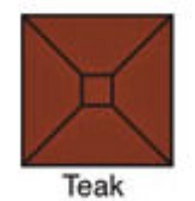 TTMW65SQ Square Tuuci Turbo Umbrella 6.5 ft Wood Teak Restaurant Supply