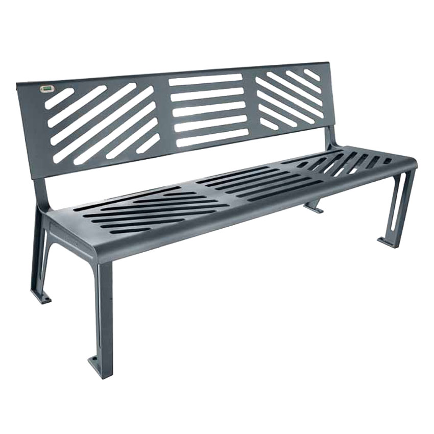 EMU U397M 65.5 Outdoor Essen Bench w/ Solid Seat & Back, ...