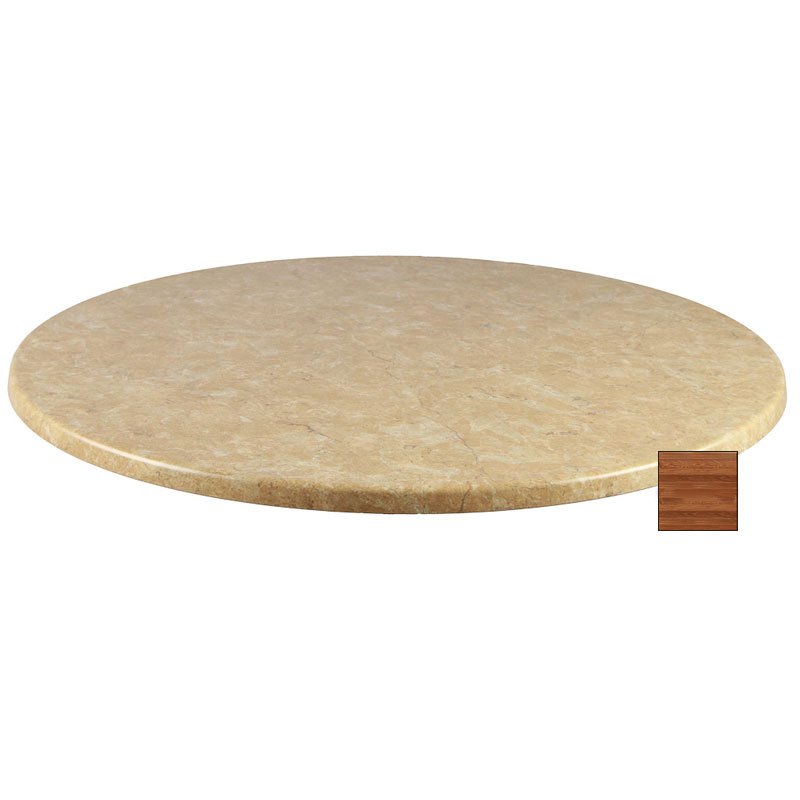 Emuamericas W0024 Joe Table Top, 24 in Diameter, Teak Laminate
