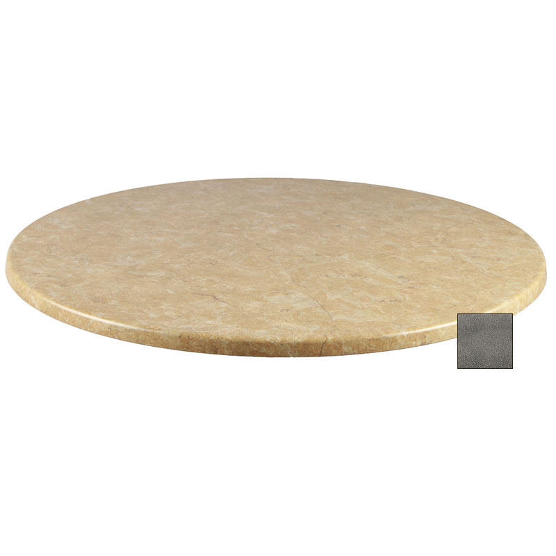 emu W0024 069 Joe Table Top, 24 in Diameter, Black Granite Laminate