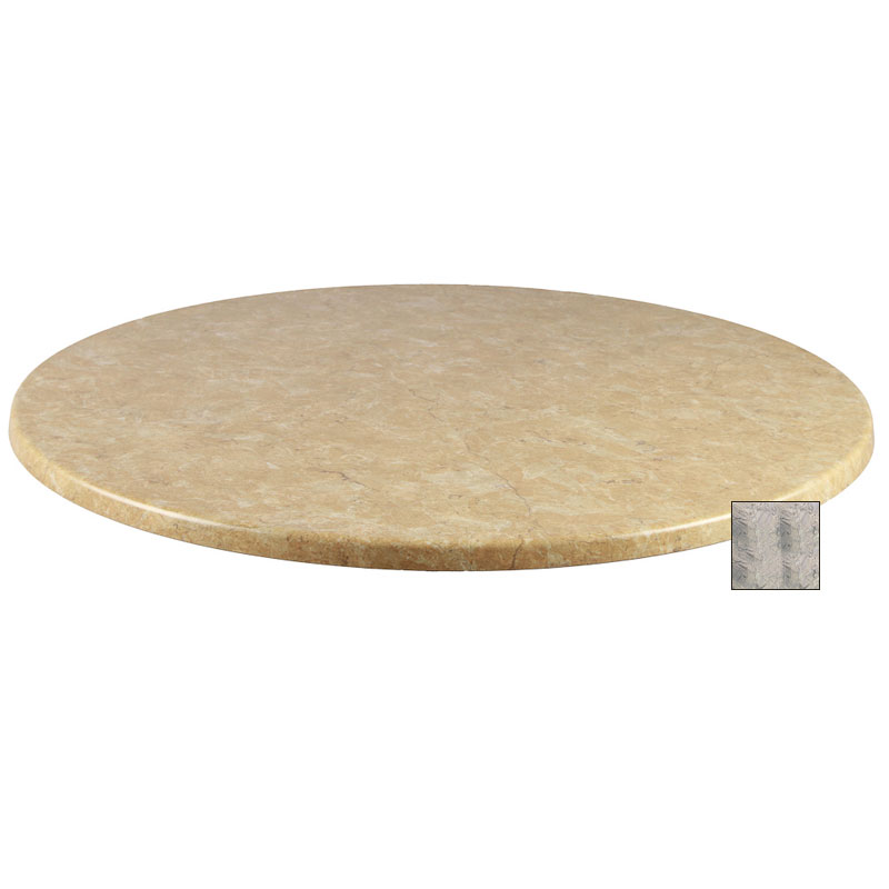 "emu W0036 36"" Joe Round Table Top - Indoor/Outdoor, Molded Laminate, Nevada"