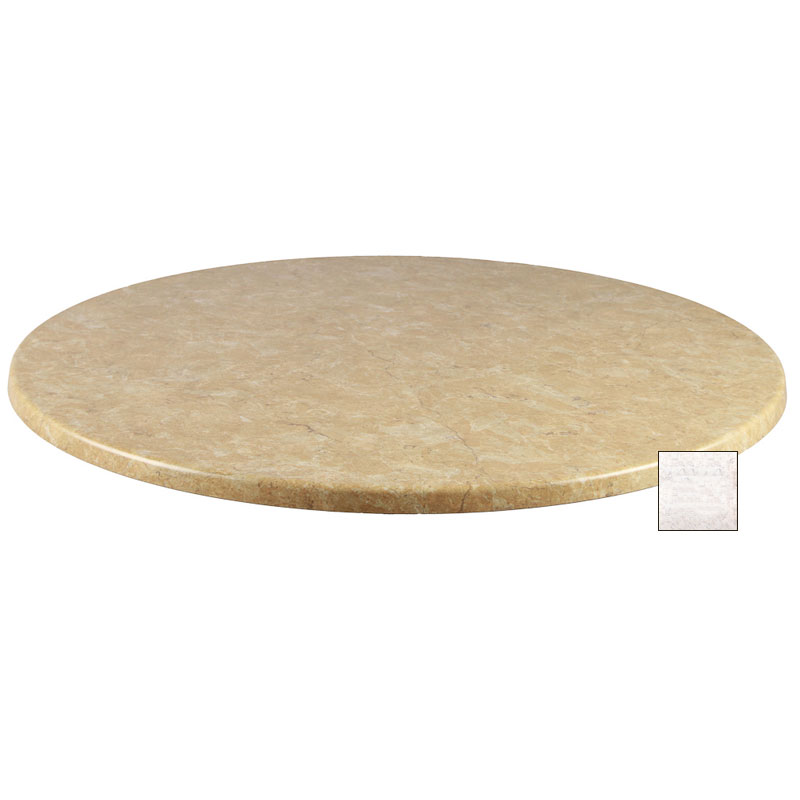 "emu W0036 36"" Joe Round Table Top - Indoor/Outdoor, Molded Laminate, Stone"