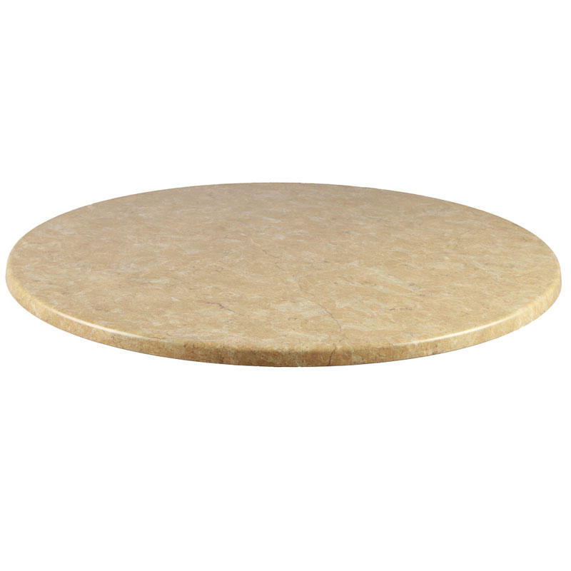 "emu W0036 36"" Joe Round Table Top - Indoor/Outdoor, Molded Laminate, Travertine"