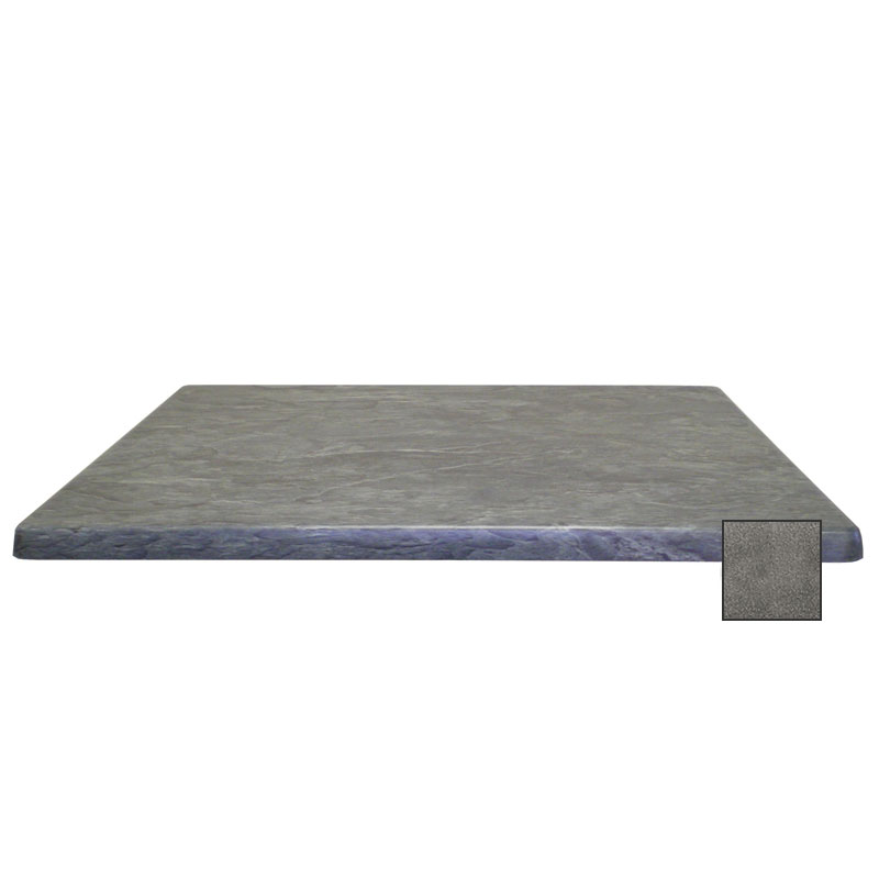 "emu W2424 24"" Joe Square Table Top - Indoor/Outdoor, Molded Laminate, Black Granite"