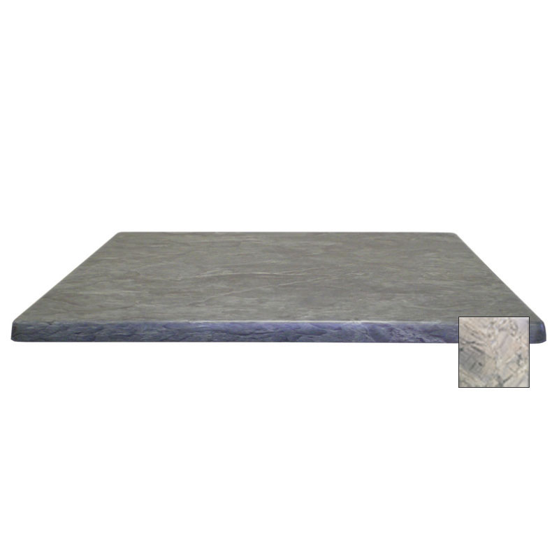 "emu W2828 28"" Joe Square Table Top - Indoor/Outdoor, Molded Laminate, Nevada"