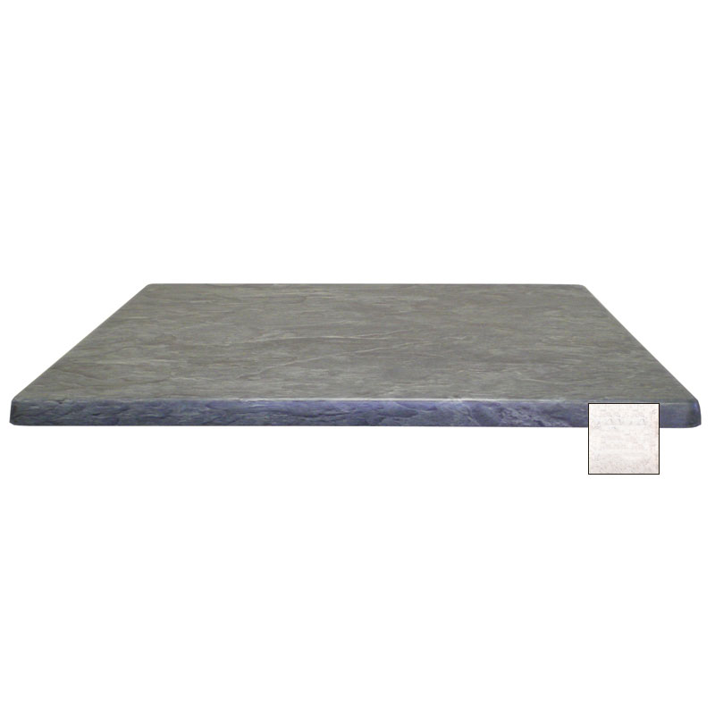 "emu W2828 28"" Joe Square Table Top - Indoor/Outdoor, Molded Laminate, Stone"