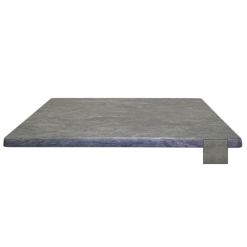 "emu W2844 Joe Rectangular Table Top - Indoor/Outdoor, 44x28"" Molded Laminate, Black Granite"