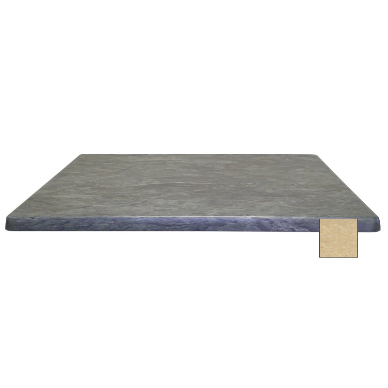 "emu W3248 Joe Rectangular Table Top - Indoor/Outdoor, 48x32"" Molded Laminate, Travertine"