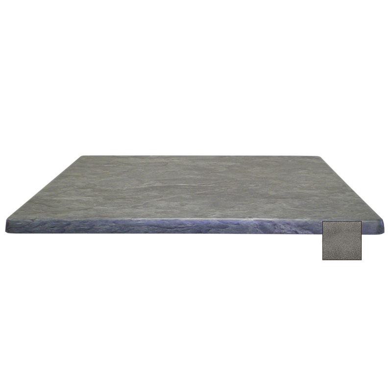 "emu W3636 36"" Joe Square Table Top - Indoor/Outdoor, Molded Laminate, Black Granite"