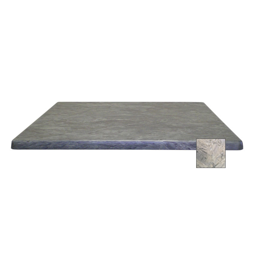 "emu W3636 36"" Joe Square Table Top - Indoor/Outdoor, Molded Laminate, Nevada"