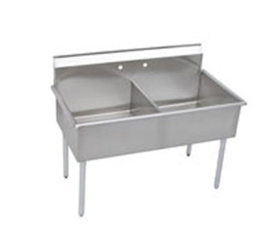 Elkay B2C18X21X Budget Sink w/ (2) 18x21x12-in Bowl & 9-in Splash