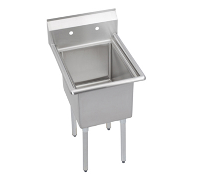 "Elkay E1C24X24-0X 29"" 1-Compartment Sink w/ 24""L x 24""W, 12"" Deep"