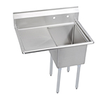 Elkay E1C20X20-L-20X Sink w/ 20x20x12-in Bowl & 9-in Splash, 20-in Left Drainboard