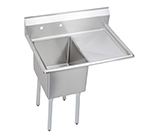 Elkay E1C20X20-R-20X Sink w/ 20x20x12-in Bowl & 9-in Splash, 20-in Right Drainboard