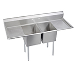 "Elkay E2C24X24-2-24X 98"" 2-Compartment Sink w/ 24""L x 24""W Bowl, 12"" Deep"