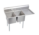 "Elkay E2C24X24-R-24X 76.5"" 2-Compartment Sink w/ 24""L x 24""W Bowl, 12"" Deep"