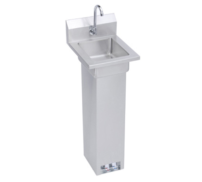 Elkay EHS-14-PEDX Pedestal Economy Hand Sink w/ 10x14x5-in Bowl & Faucet, Foot Valve