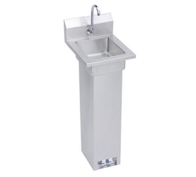 """Elkay EHS-14-PEDX Pedestal Commercial Hand Sink w/ 10""""L x 12""""W x 5""""D Bowl, Pedal Valve"""