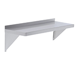 Elkay EWMS-14-60X Wall Shelf w/ 2-Brackets, 14x60-in