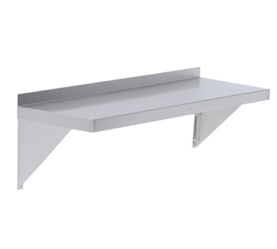 Elkay EWMS-12-48X Wall Shelf w/ 2-Brackets, 12x48-in