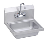 Elkay SEHS-17X Wall Hand Sink w/ Gooseneck Faucet & Basket Strainer, 17x15""