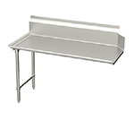 "Elkay CDT-84-LX R-L Straight Clean Dishtable w/ 10"" Splash, 30x84"""