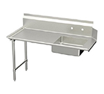 Elkay DDT-60-LX L-R Straight Soiled Dishtable w/ 10-in Splash, 30x60-in