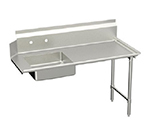 "Elkay DDT-48-RX R-L Straight Soiled Dishtable w/ 10"" Splash, 30x48"""