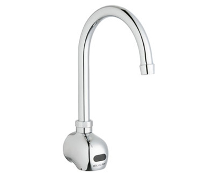 Elkay LKB722C Wall Electronic Faucet w/ 1-Hole & 5-in Gooseneck Spout, Sensor Operated