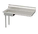 Elkay UDT-60-LX 60-in L-R Undercounter Dishtable w/ 20.25x20.25x6-in Bowl & 8-in Splash