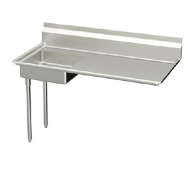 Elkay UDT-50-LX 50-in L-R Undercounter Dishtable w/ 20.25x20.25x6-in Bowl & 8-in Splash