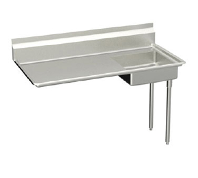Elkay UDT-60-RX 60-in R-L Undercounter Dishtable w/ 20.25x20.25x6-in Bowl & 8-in Splash