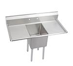 Elkay 14-1C16X20-2-18X Standard Sink w/ 16x20x14-in Bowl & 9-in Splash, 18-in L-R Drainboard