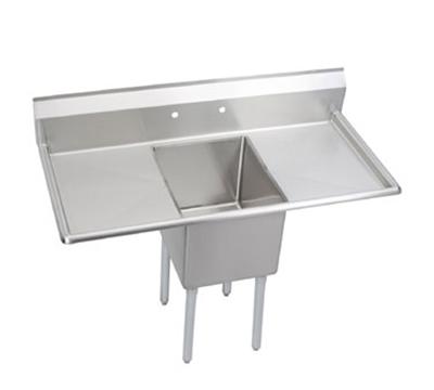 """Elkay 14-1C16X20-2-18X 52"""" 1-Compartment Sink w/ 16""""L x 20""""W Bowl, 14"""" Deep"""