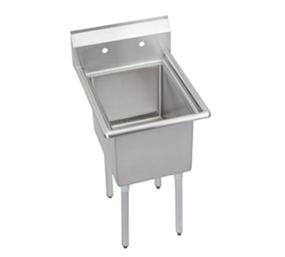 "Elkay 1C18X24-0X 23"" 1-Compartment Sink w/ 18""L x 24""W Bowl, 12"" Deep"