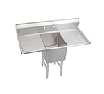 "Elkay 1C18X24-2-24X 66"" 1-Compartment Sink w/ 18""L x 24""W Bowl, 12"" Deep"