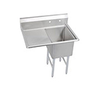 Elkay 1C18X24-L-24X Standard Sink w/ 18x24x12-in Bowl & 10-in Splash, 24-in Left Drainboard