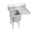 Elkay 1C18X24-R-24X Standard Sink w/ 18x24x12-in Bowl & 10-in Splash, 24-in Right Drainboard