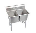 "Elkay 2C18X18-0X 43"" 2-Compartment Sink w/ 18""L x 18""W Bowl, 12"" Deep"